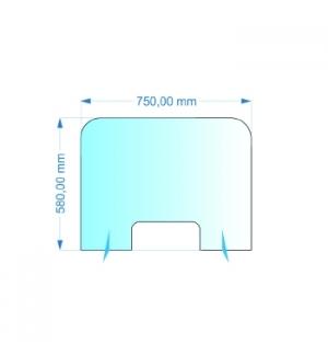 Resguardo de Atendimento Acrilico Cristal 75x60cm
