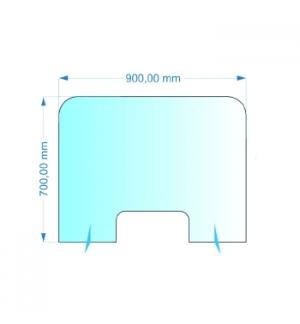 Resguardo de Atendimento Acrilico Cristal 90x70cm