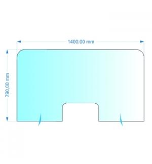 Resguardo de Atendimento Acrilico Cristal 140x80cm