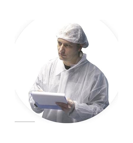 Bata Polipropileno Branco com Fecho/Velcro 1un