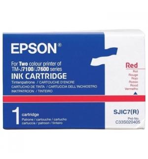 Tinteiro Epson p/ Impressora Pos TM-J7100/7100P Vermelho