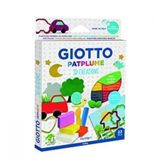 Plasticina Giotto Patplume Conjunto Sortido 12x33gr - 23pcs