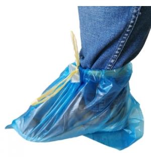 Cobre Sapatos c/Atilho Rolo Azul 50un