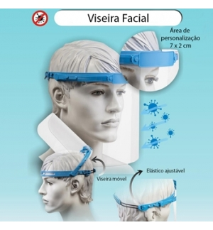 Viseira Facial Protetor Face Screen 1un