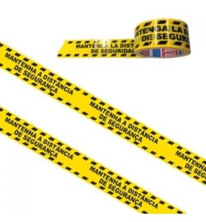 Fita Adesiva PVC Impressa (Distancia Seguranca) Tesa 50mmx33