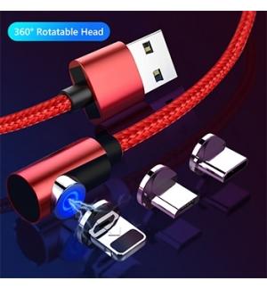 Cabo USB Carga Rapida 3 em1 Micro USB-USB C - iPhone