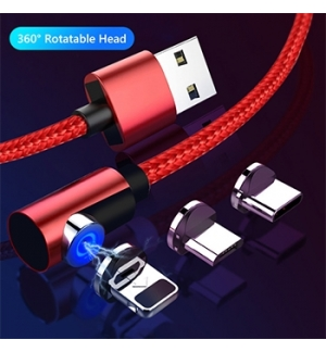 Cabo USB para Type-C/Apple Lightning/micro-USB -1mt