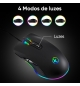 Rato PC Gamer Optico USB com 4 modos RGB 3200 DPI