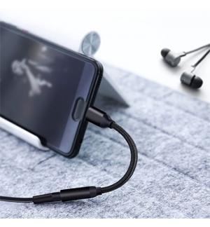 Cabo Conversor Audio Type USB-C para Jack Femea de 3,5mm
