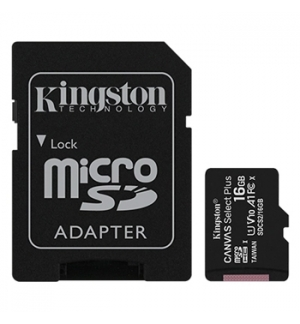 Cartao Memoria KINGSTON 16GB micSDXC Canvas Select Plus