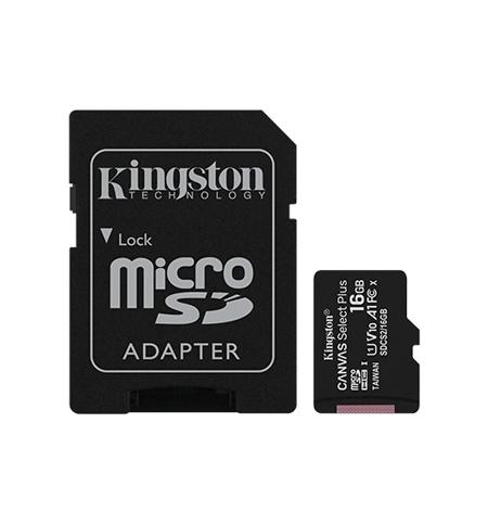 Cartao Memoria KINGSTON 16GB micSDXC Canvas Select Plus