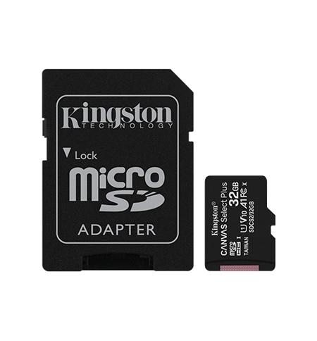 Cartao Memoria KINGSTON 32GB micSDXC Canvas Select Plus