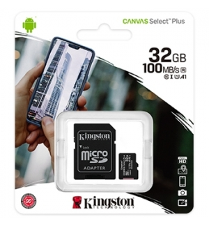 Cartao Memoria KINGSTON 32GB micSDXC Canvas Select Plus