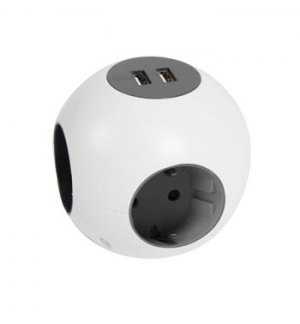 Power Globe 4 Tomadas + 2 Portas USB