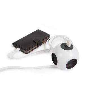 Power Globe 4 Tomadas + 2 Portas USB