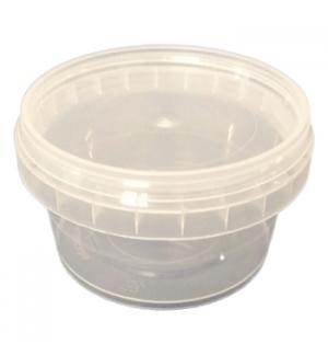 Caixa Alimentar PP Plástico Redonda 210ml 1un