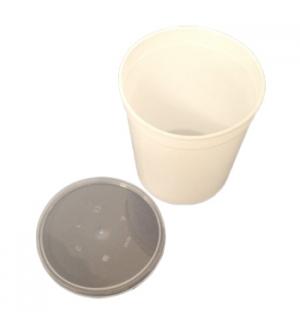 Caixa Alimentar PP Plástico Branco Redonda 1000ml 25un
