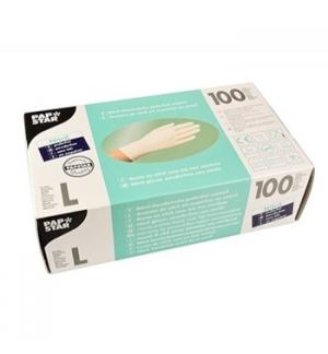 Luvas Vinil s/Po Tamanho (L) Transparente - (Pack 100un)