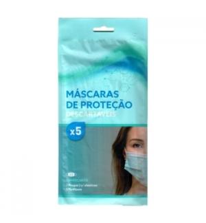 Mascara Descartavel 3 Camadas Alta Protecção Blister 5un