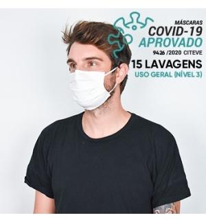 Máscara Reutilizável 15 Lavagens DANIELLE A Branco 1un