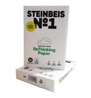 Papel Fotocopia A4  080gr Reciclado Steinbeis Papier 5x500fS