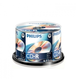 CD-R Philips 700Mb 52x 80min Spindle Pack 50