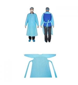 Bata Descartável Azul Plastificada 1un