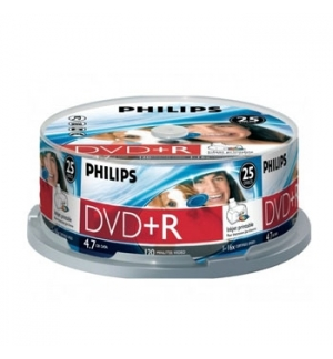 DVDR Philips 47GB 16X Spindle Pack 25 Printable