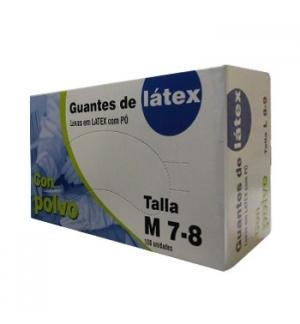 Luvas Latex c/Po Super Finas Tamanho (M) - (Pack 100un)