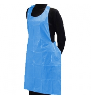 Avental Polietileno 90x150cm Azul - Pack 25un