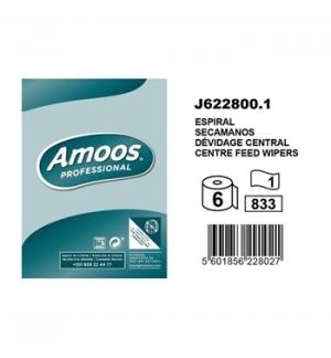Rolo Toalhas Mão 280mtsx19,2cm 1Fl Amoos (Pack 6)