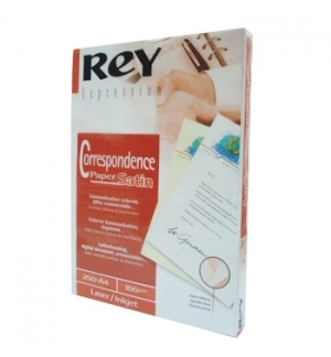 Papel 100gr A4 Rey Acetinado Branco - 250 Folhas