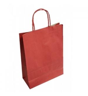 Saco Papel Kraft Vermelho  XL 54x15x49 Asa Retorcida - 1un