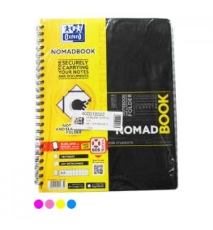 Caderno Espiral Oxford Nomadbook A4 Quadri Cor Sort Pack5un
