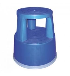 Tamborete/Escadote Plástcio 2 Niveis 45cm Altura Azul