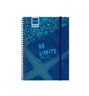 "Agenda Diaria 2021 1/8 (120x164) ""Sem limites"" Azul 1un"