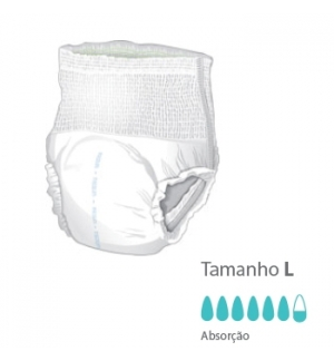 Cueca Fralda Presto com sistema Flex Right Tamanho L Pack 10