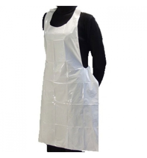 Avental Polietileno 90x150cm Branco - Pack 25un