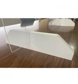 Resguardo de Atendimento Acrilico Cristal 80x60cm