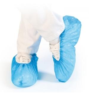 Cobre Sapatos Polietileno c/Elastico Azul Pack 100 und