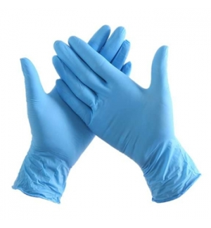 Luvas Nitrilo Sem Po Azul Tam.(L) Azul 100un