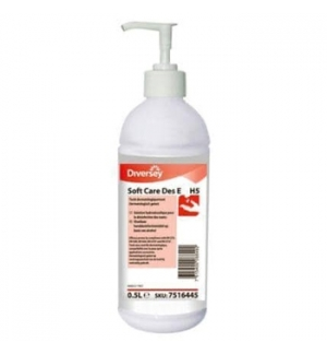 Gel Desinfetante Soft Care Des-E H5 (base álcool) 500ml