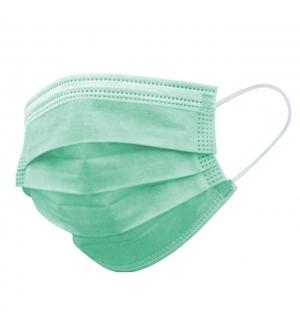 Máscara Descartável Criança 3 Camadas Verde Claro 1un