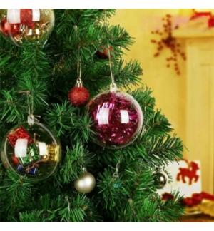 Bola Natal Plástico 10cm