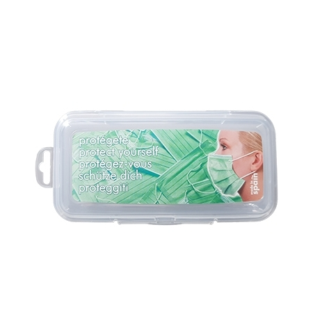 Porta Máscaras Retangular Transparente 16,5cm 1un