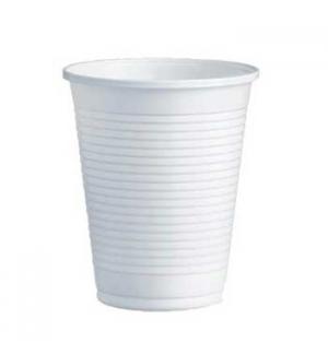 Copo Plástico 200ml Branco (Água/Chá) 100un