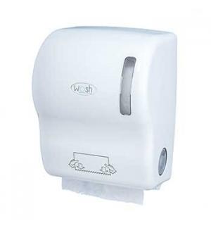 Dispensador Toalhas Rolo c/ Auto-Corte ABS Branco