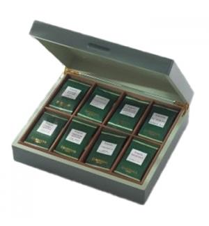 Caixa Vazia Madeira Dammann para 48 Bolsas Tisanas ou chás