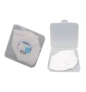 Porta Máscaras Quadrado Transparente 13x13x1.5cm 1un