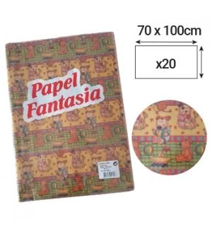 Papel Embrulho Fantasia Infantil 70x100cm 20 Folhas